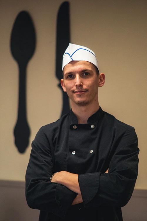 Dimitri Luguet chef cuisinier aux Jardins d'Iroise de Mazingarbe